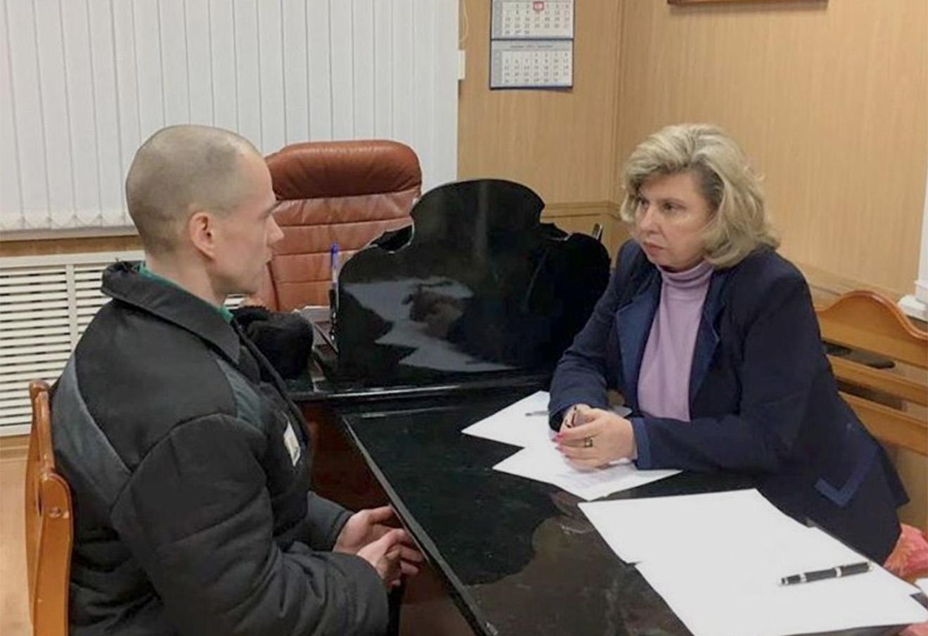 Ильдар Дадин и Татьяна Москалькова в ИК-7, 3 ноября 2016 года. Фото: moskalkova.official / Instagram