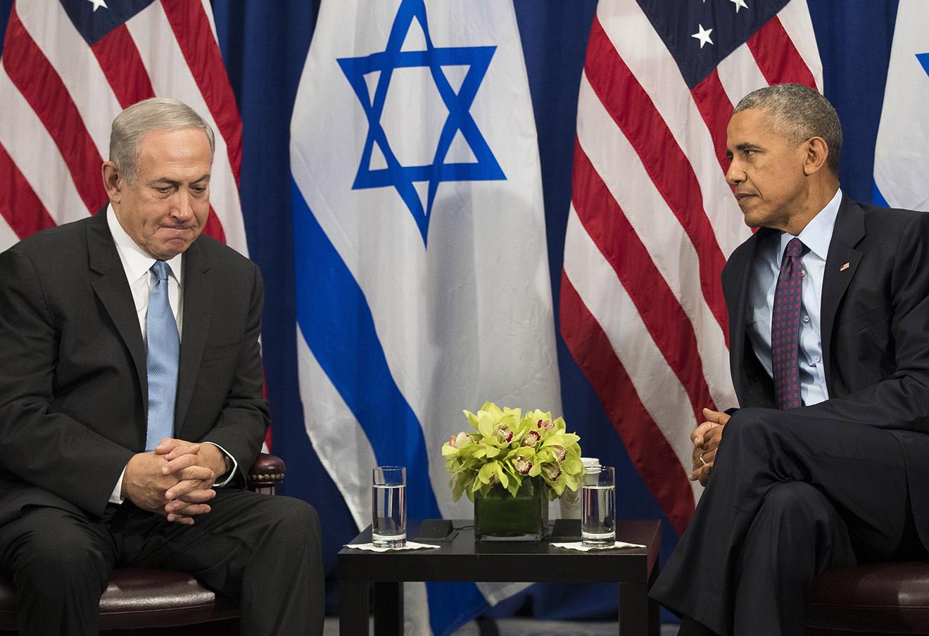 Встреча президента США Барака Обамы и премьер-министра Израиля Биньямин Нетаньяху в Нью-Йорк. Фото: Drew Angerer / ТАСС