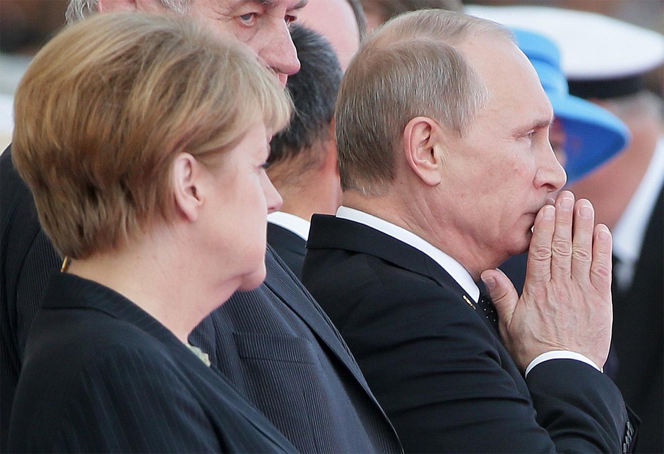 Канцлер Германии Ангела Меркель и президент России Владимир Путин. Фото: Михаил Метцель / ТАСС
