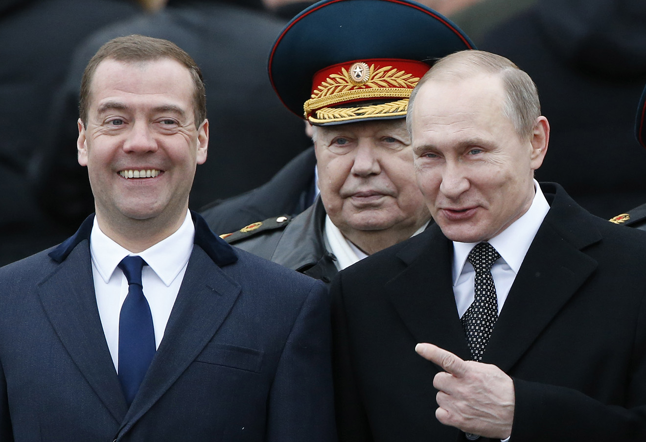 Дмитрий Медведев и Владимир Путин. Фото: Сергей Карпухин / Reuters