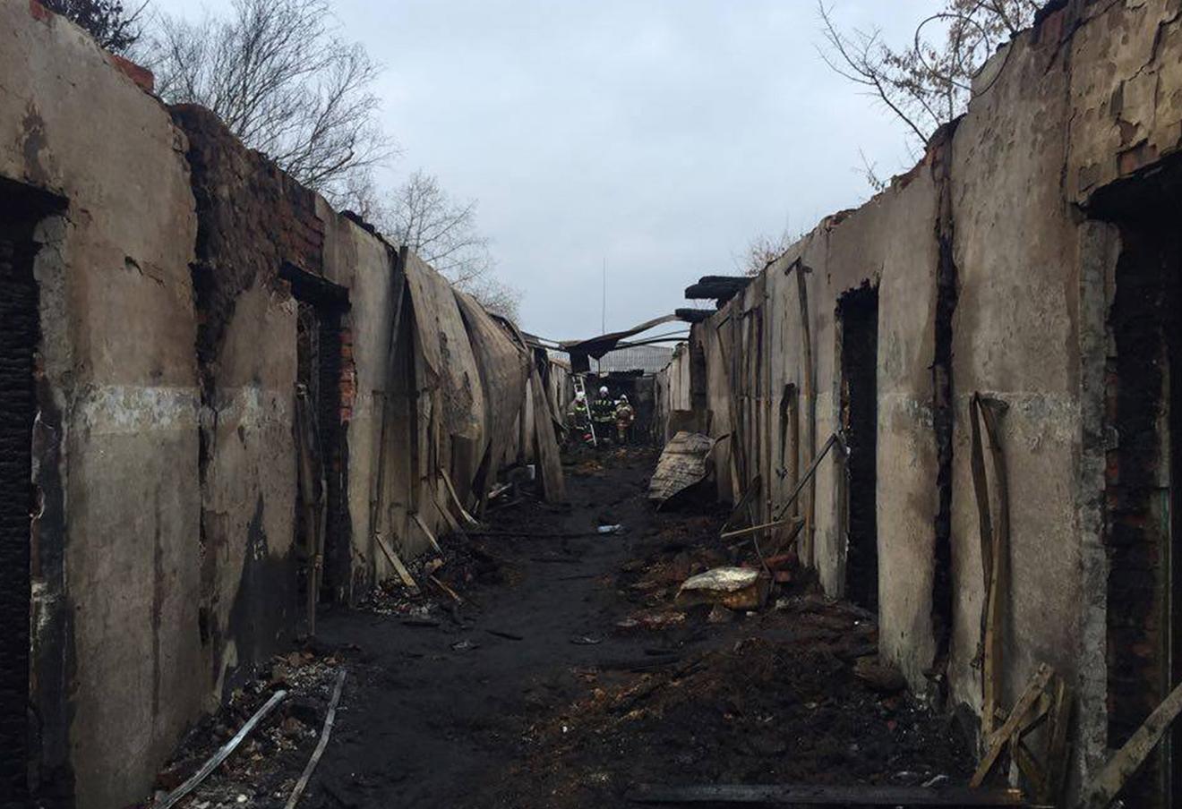 Тушение пожара в Новохоперском психоневрологическом интернате, Воронежская область, 14 декабря 2015 года.