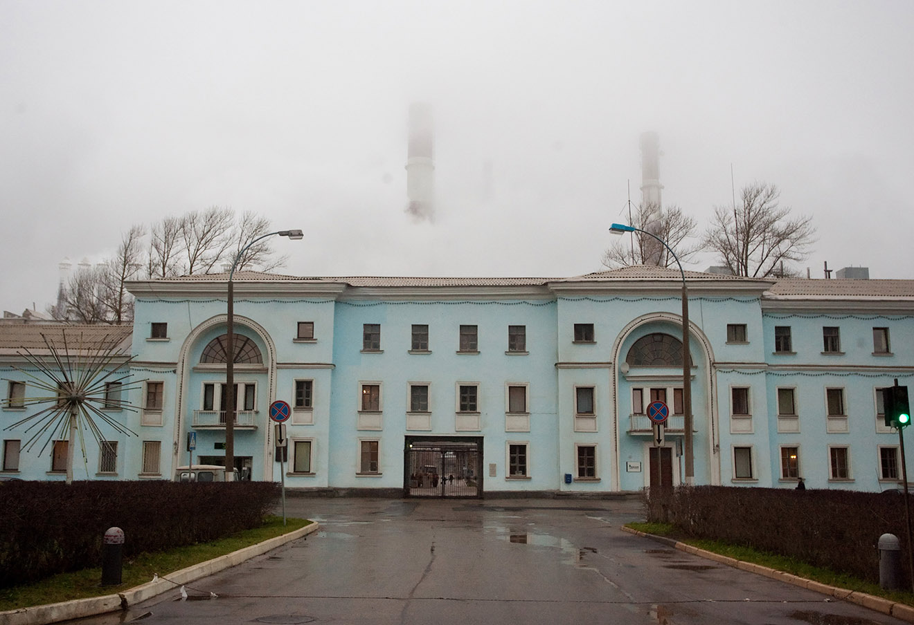 На территории завода «БазэлЦемент-Пикалево».