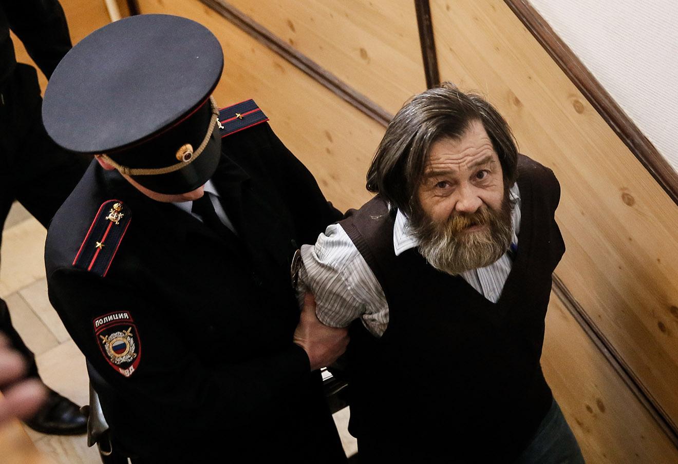 Сергей Мохнаткин после рассмотрения дела в Тверском суде, 2014 год.