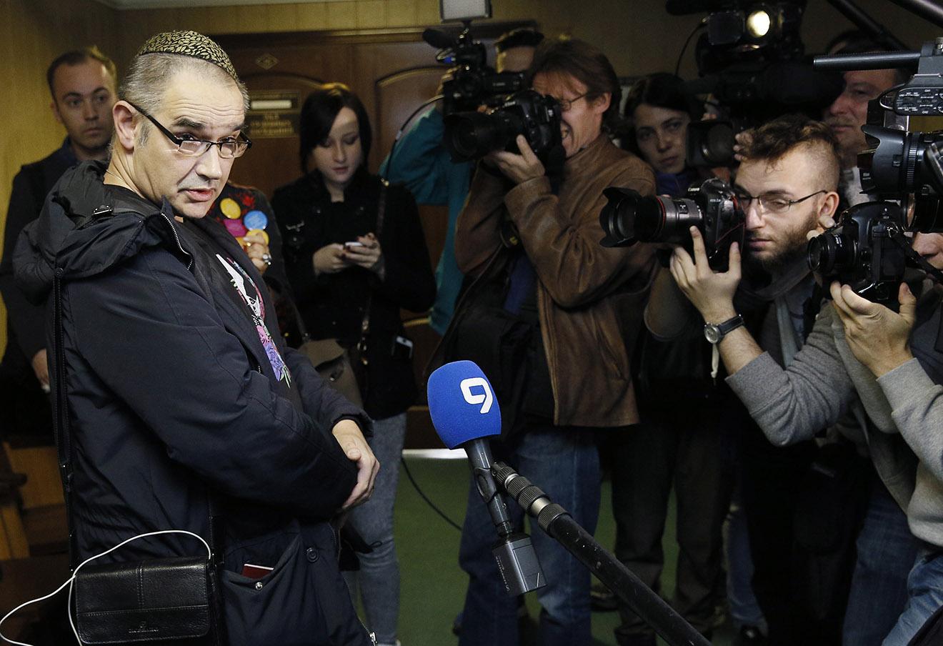 Антон Носик в суде 3 октября 2016 года. Фото: Александр Щербак / ТАСС