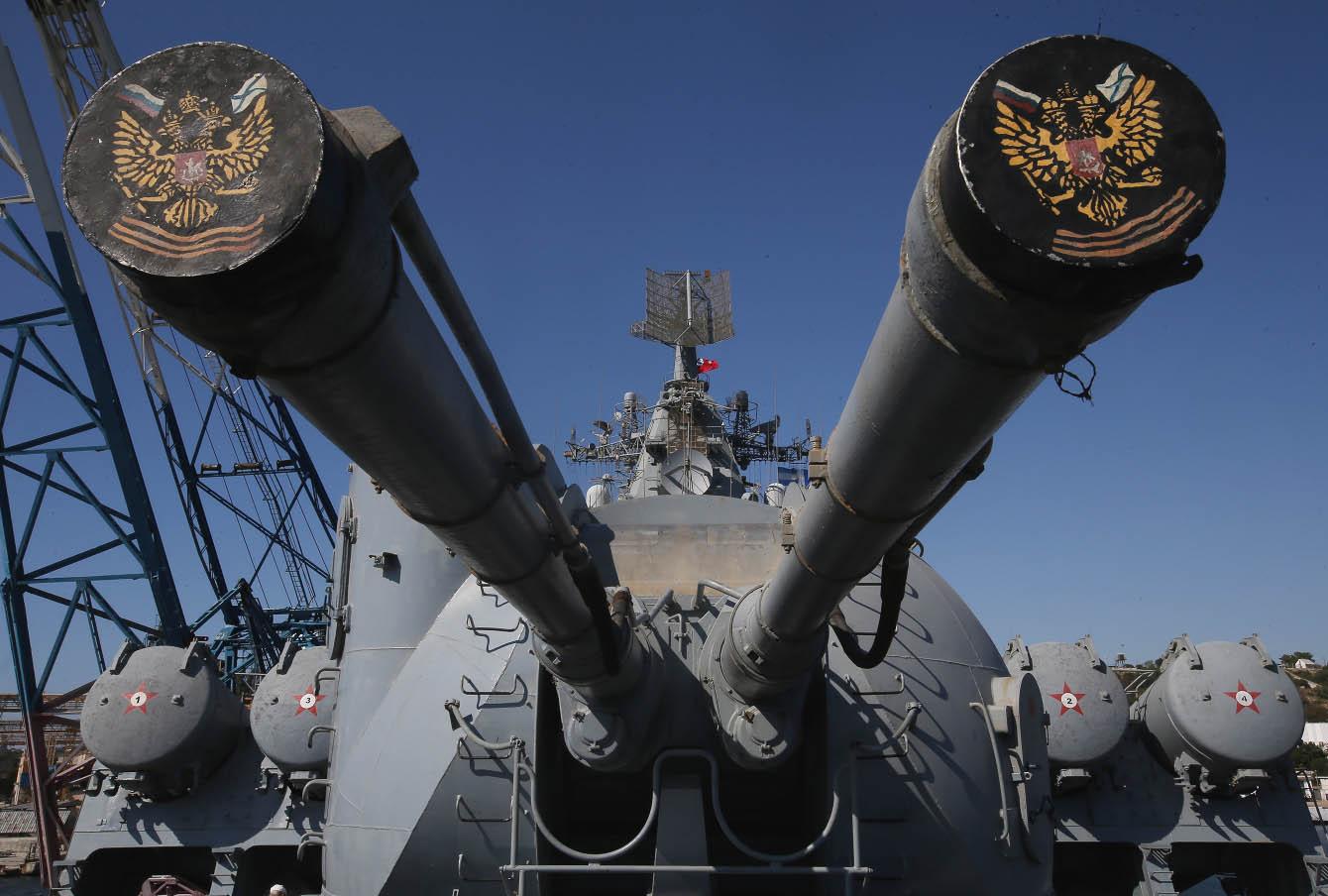 Флагман Черноморского флота ракетный крейсер «Москва»
