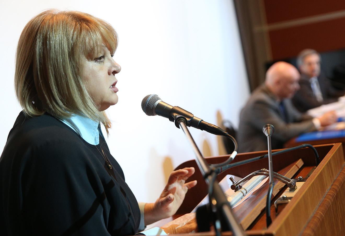 Элла Памфилова во время заседания Кординационного совета российских уполномоченных по правам человека.