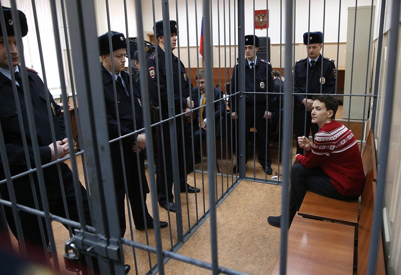 Надежда Савченко в Басманном суде, 3 марта 2015 года.