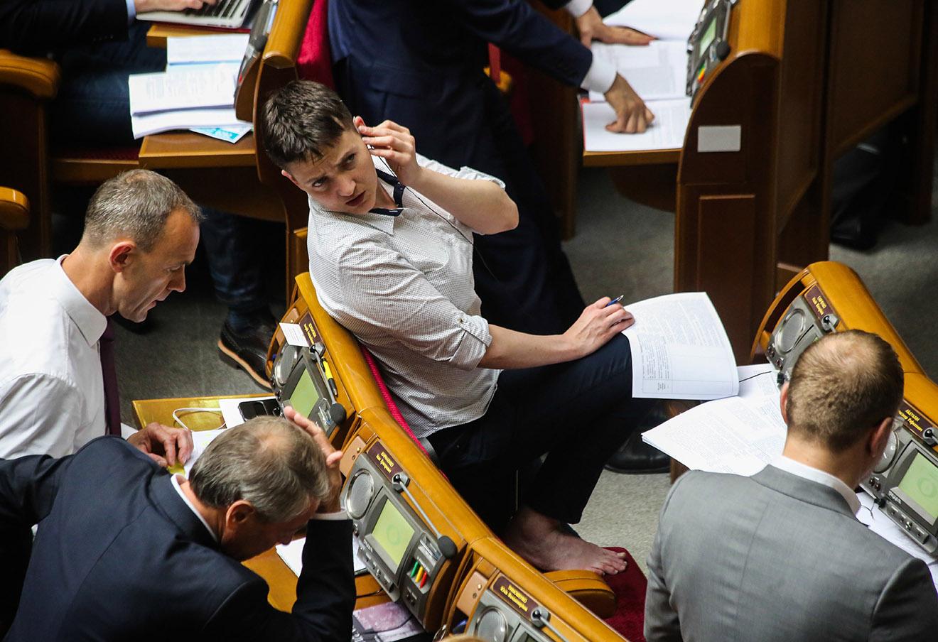 Надежда Савченко на заседании Верховной рады, 31 мая 2016 года.