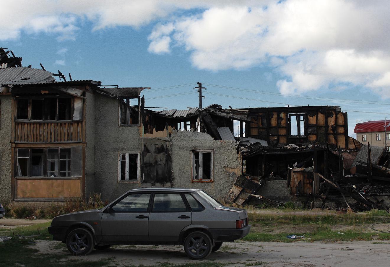 Сгоревшая «деревяшка». Фото: Елена Новоселова