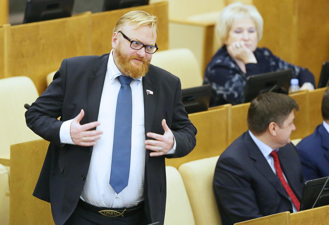 Виталий Милонов. Фото: Артем Коротаев / ТАСС