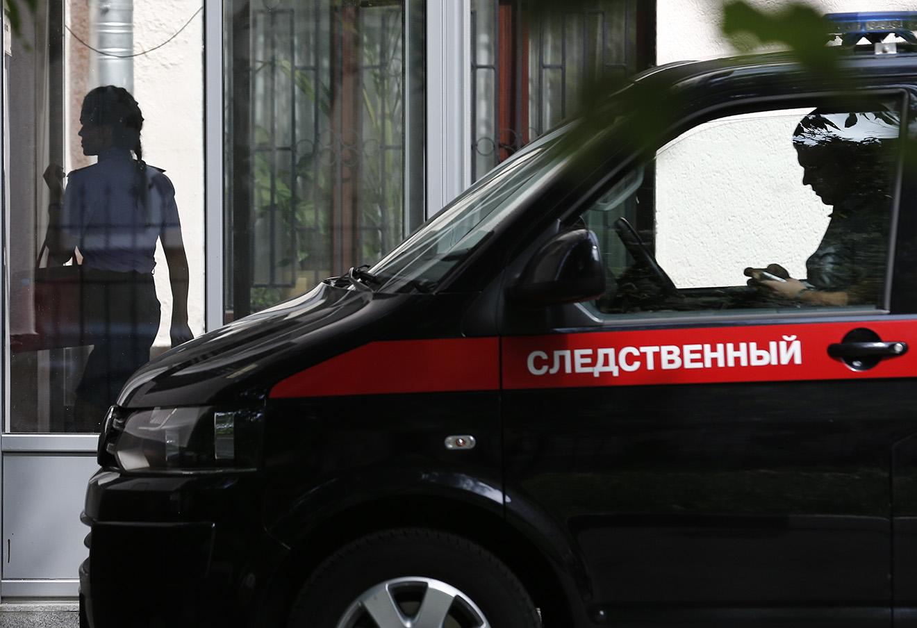 У здания Главного следственного управления СК РФ по Москве, где проходили обыски.