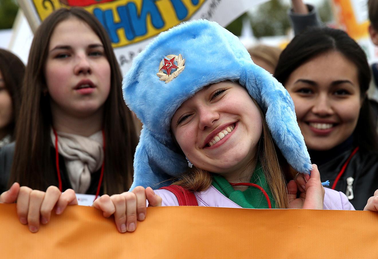 Парад российского студенчества на Поклонной горе. Фото: Сергей Фадеичев / ТАСС