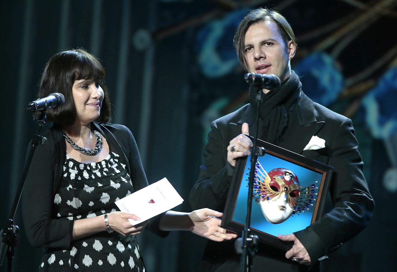 Теодор Курентзис на церемонии награждения премии «Золотая маска». Фото: Михаил Метцель / ТАСС
