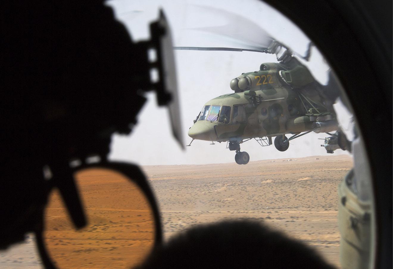 Российский вертолет Ми-8, Пальмира, Сирия.