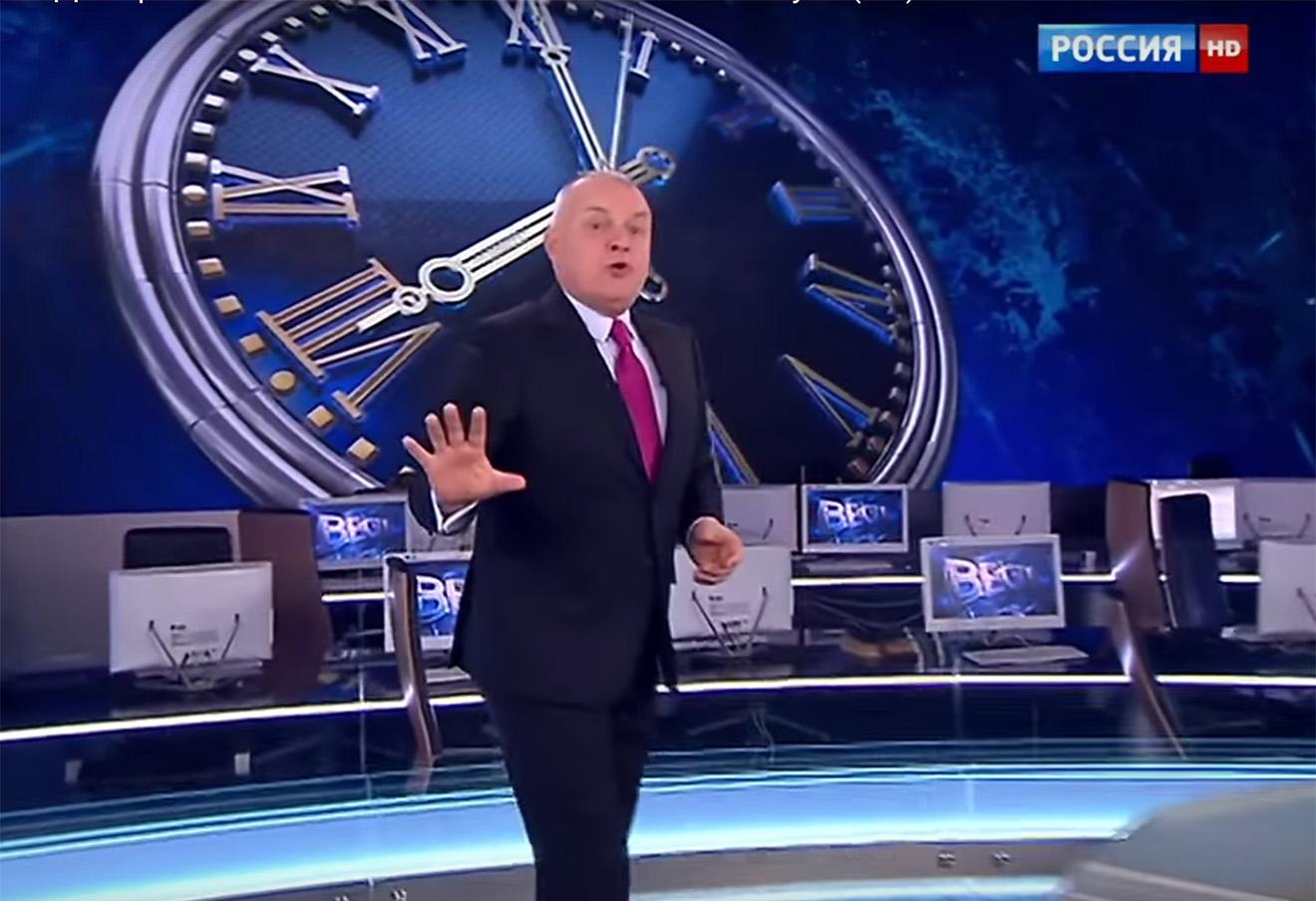 Кадр из эфира «Вести недели» с Дмитрием Киселевым от 24 января 2016 года