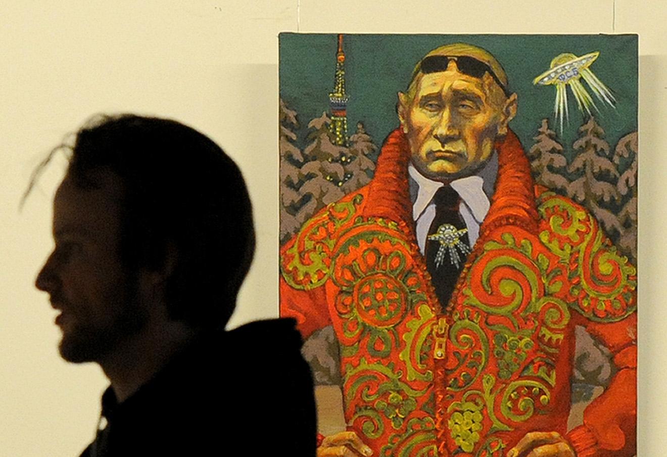 Портрет Владимира Путина петербургского художника Михаила Гавричкова.