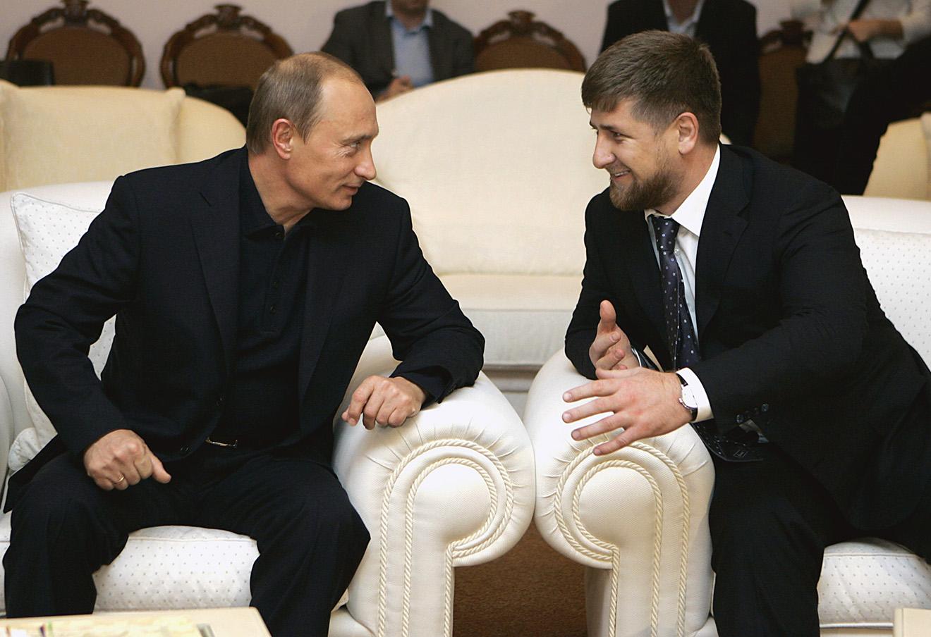 Владимир Путин и Рамзан Кадыров.