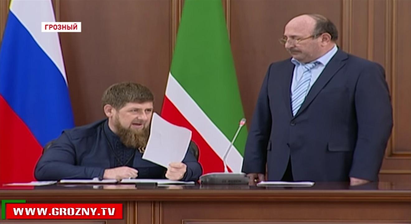 Рамзан Кадыров на совещании 5 мая.