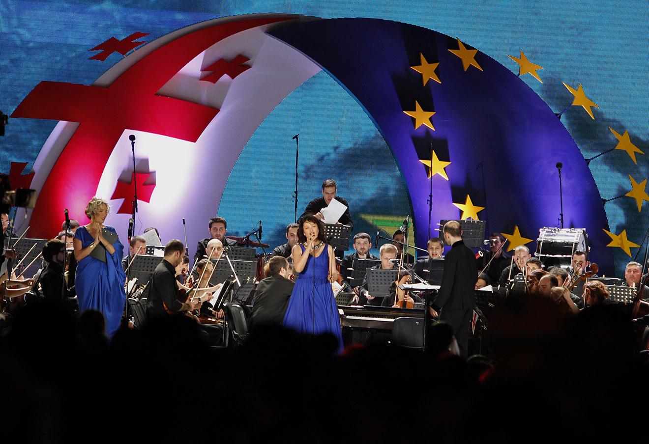 Концерт по случаю подписания соглашения об ассоциации с ЕС в Тбилиси, 2014 год.