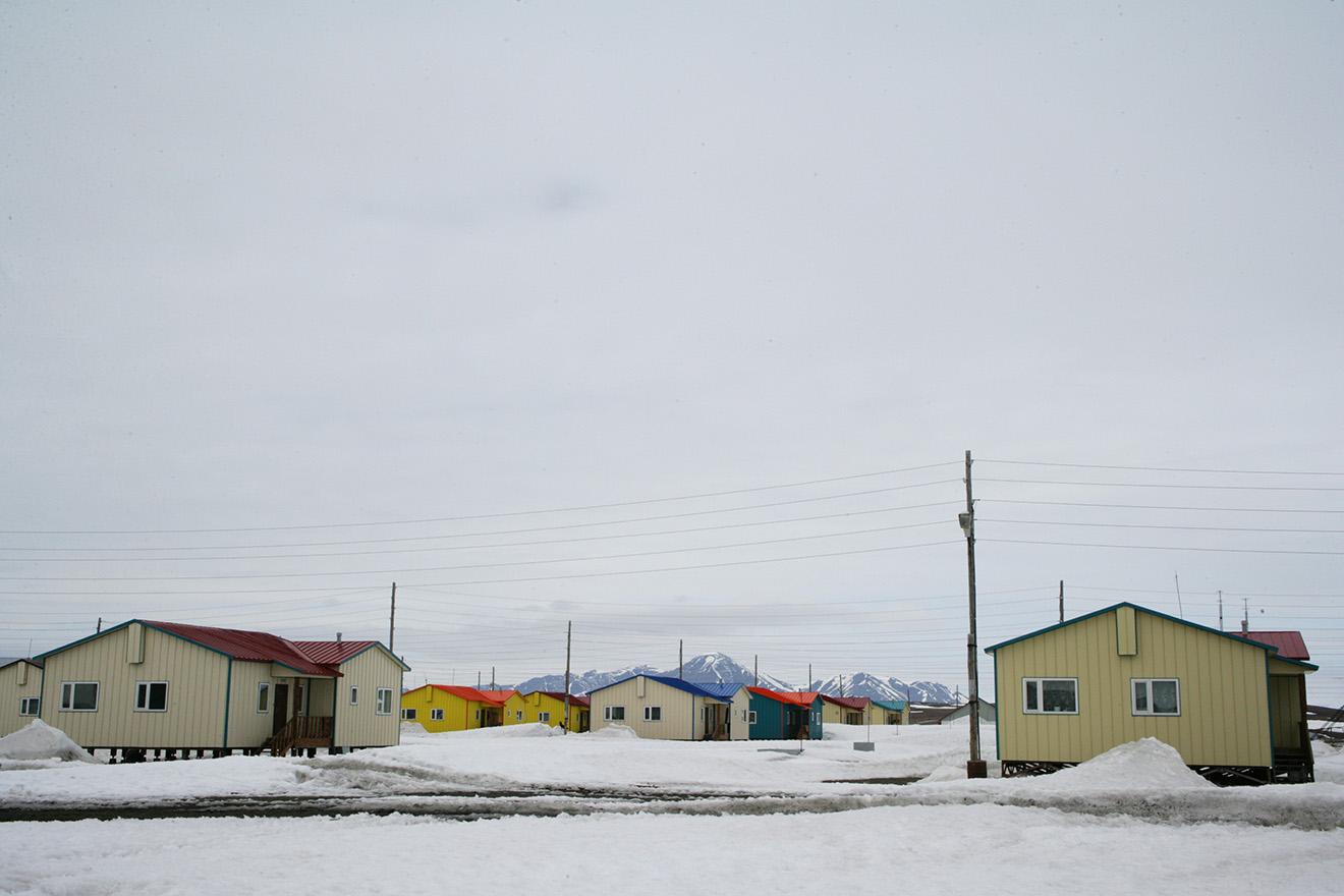 Частные жилые дома на Чукотке.