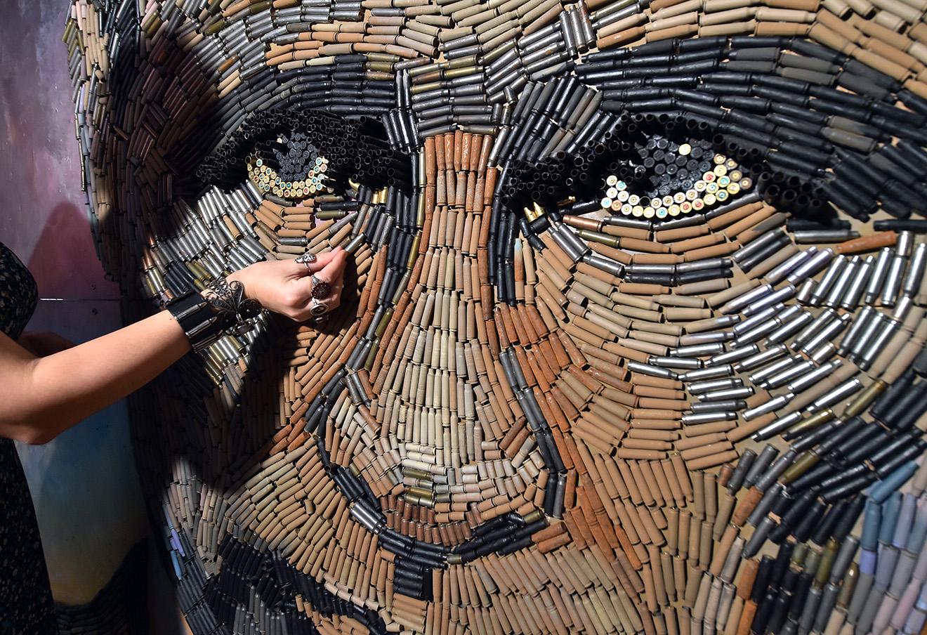 Портрет Владимира Путина киевской художницы Дарьи Марченко.