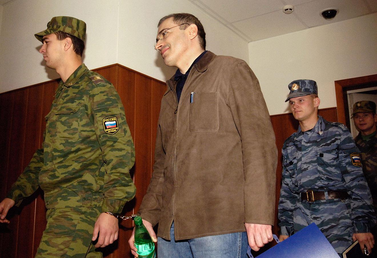 Михаил Ходорковский в Мосгорсуде.