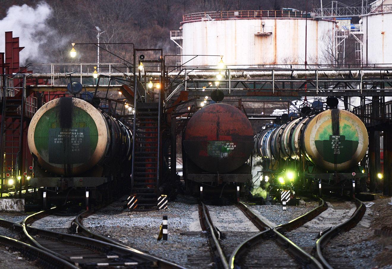 Морской нефтеналивной терминал в Приморском крае.
