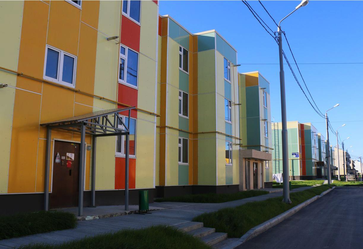 Новые дома в селе Дальнем. Фото: Фина Сафонова