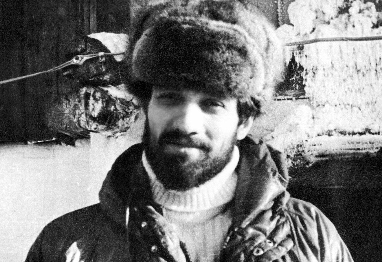 Александр Подрабинек в ссылке в Оймяконском районе Якутии, 1980 год.