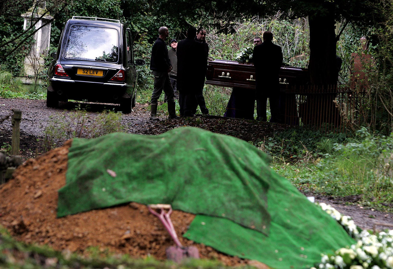 Похороны Александра Литвиненко, 2006 год.