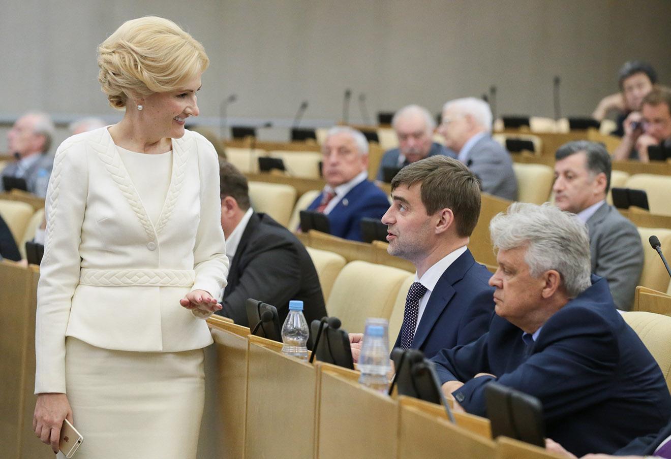 Ирина Яровая на пленарном заседании Государственной думы РФ.