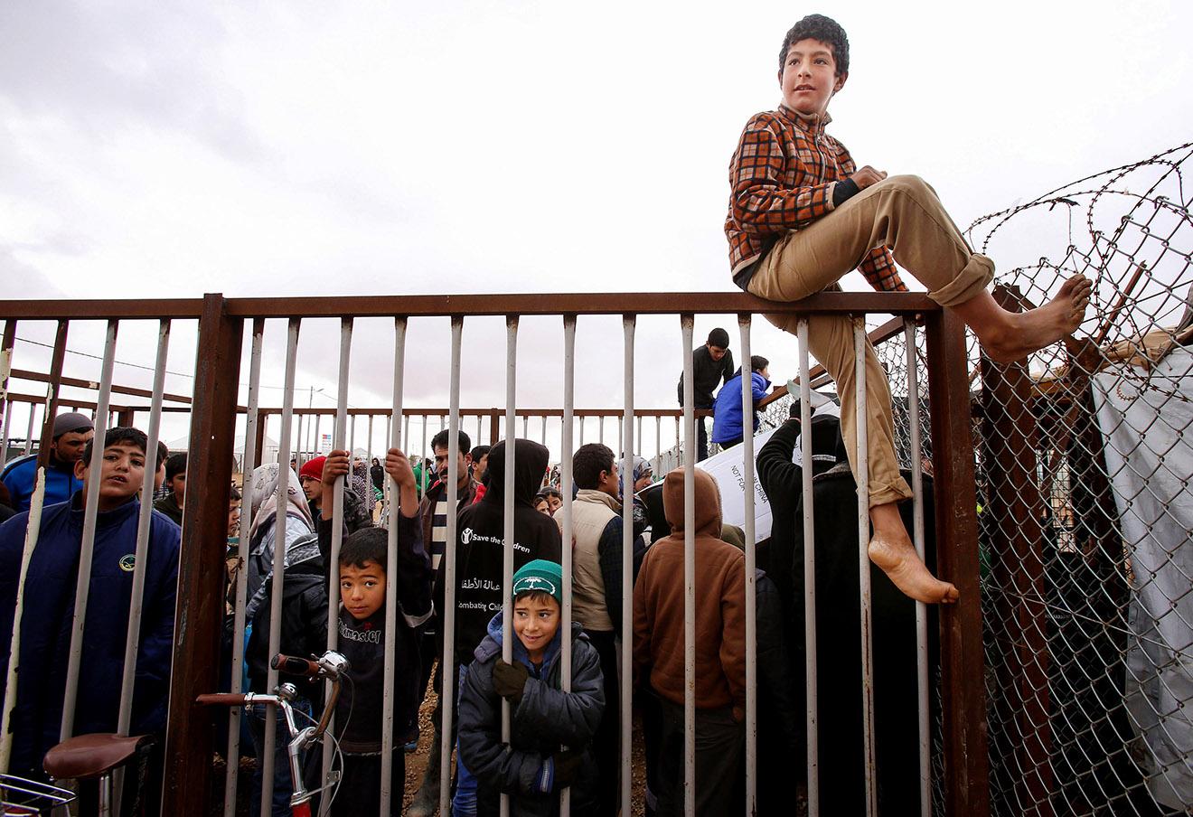 Лагерь сирийских беженцев на севере Иордании.
