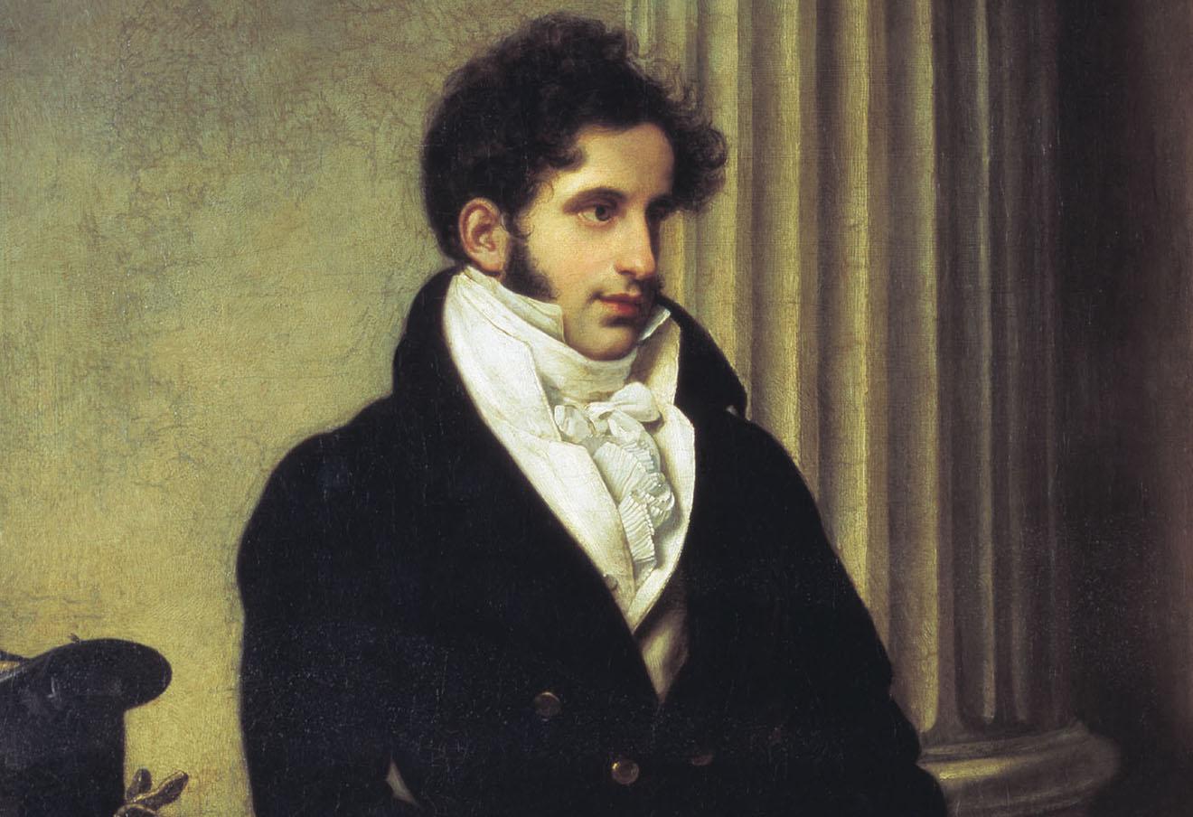 Портрет Сергея Уварова работы Ореста Кипренского (1815)